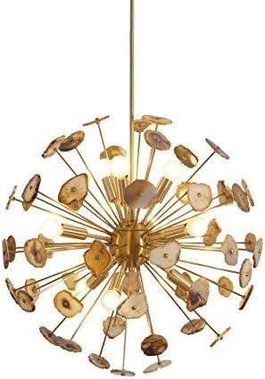 Modern Brass Sputnik Chandelier Light Fixture