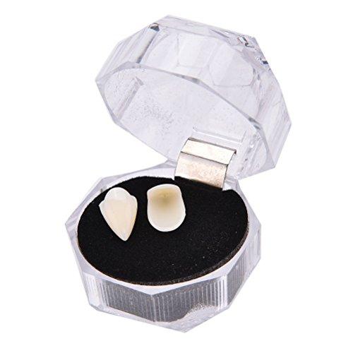 TOOGOO Bloodcurdling Werewolves Fangs Fake Dentures Teeth Costume Halloween 19mm ()