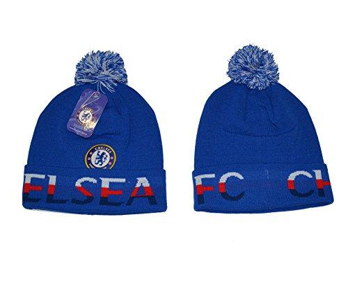 wholesale dealer 27137 d93d0 ... Men s Blue Size M. Chelsea Fc Beanie Skull Cap Pom Pom Hat New Season  2015-2016 (Red)