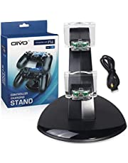 OIVO USB Dual Controller Charger For PS4 Gamepad Charging Station Dock Controller Power Supply Stand for Sony Playstation 4 Slim