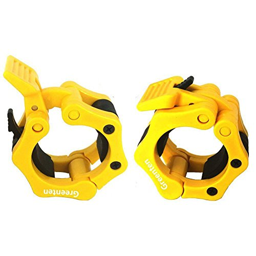 Greententljs Olympic Barbell Clamps Quick Release Pair of Locking 2