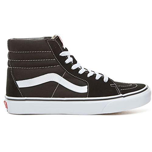 - Vans Unisex Sk8 Hi Canvas High Top Lace Up Trainer Black/White-Black-7 Size 7