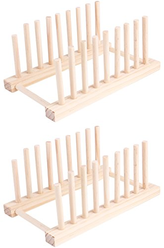 Wooden Detachable 8 Sub-grid Dish Racks Kitchen Storage Hold