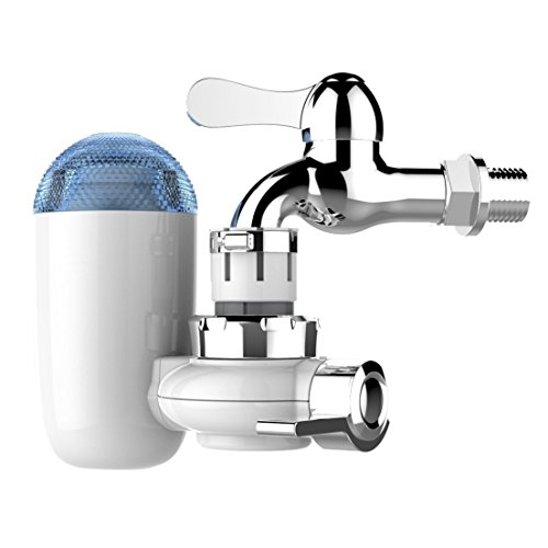GordVE GV02 Faucet Water Filter Water Filtration Faucet Mount Faucet Water Filter System with 2 Mieral Clear Filter