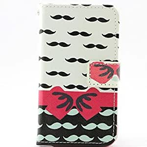 QJM Cute Beard Bow Pattern Full Body Cases for iPhone 4/4S