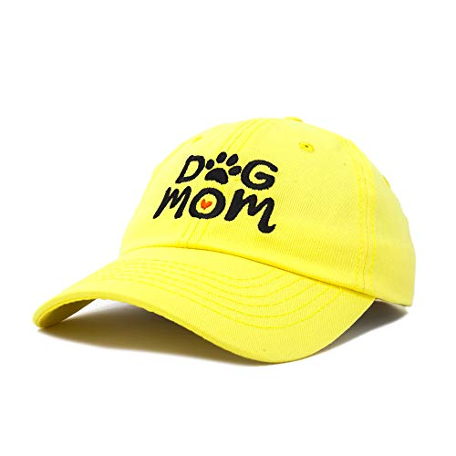 DALIX Dog Mom Baseball Cap Women's Hats Dad Hat in Minion Yellow