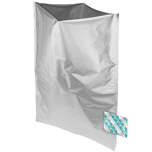 10 Dry-Packs 5 Gallon Mylar Bags and 10-2000cc Oxy-Sorb Oxygen Absorbers for Dried Dehydrated and Long Term Food Storage by Dry-Packs