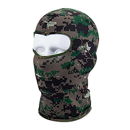 SODIAL Outdoor Full Face Mask Lycra Balaclava Thin Motorcycle Cycling Ski CS Mask Digital Blue Camo