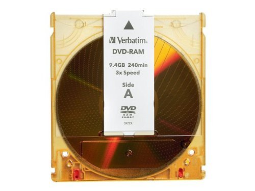 VERBATIM DVD Rewritable Media - DVD-RAM - 3x - 9.40 GB - 1 Pack Cartridge / 95003 / by VERBATIM CORPORATION