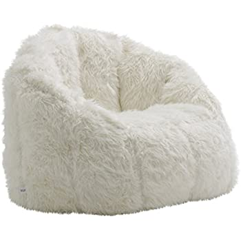d2586e769fae Amazon.com  Cocoon Faux Fur Bean Bag Chair