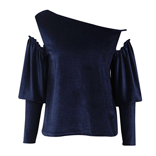 Hengzhi Womens Corduroy Strapless Long-Sleeved T-Shirt Corduroy Long Sleeved Shirt