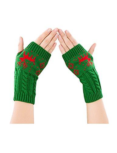 現在脇にペーストLegou(ラッコウ) レディース ニット 指が出るタイプ ウォーマー グローブ 手袋