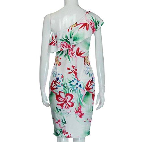 Kleid Transer® Damen OneShoulder Partei Kleid Ärmellos Outdoor ...