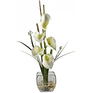 Nearly Natural Liquid Illusion Calla Lilly Silk Flower 98