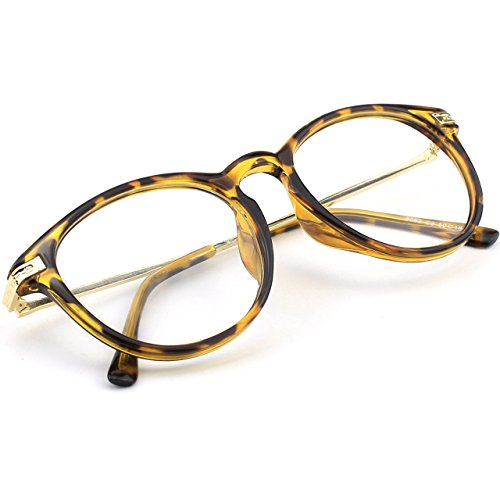 Cuerno Metal Moda Templo transparentes PN2 enculado Keyhole Tortuga GQUEEN lentes gafas ZtfqwIt4x