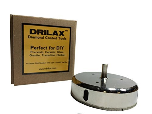 Drilax Diamond Coated Core Hole Saw 4-3/8 Inch Drill Bit ()