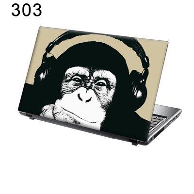 TaylorHe Folie Sticker Skin Vinyl Aufkleber mit bunten Mustern für 15 Zoll 15,6 Zoll (38cm x 25,5cm) Laptop Skin Schimpanse,