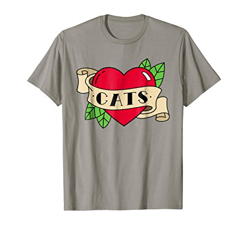 Pinsanity 'Cats' Heart Tattoo T-Shirt ()