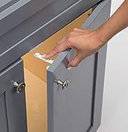 Trava de armário adesiva Safety 1St tamanho único, 12 Pack