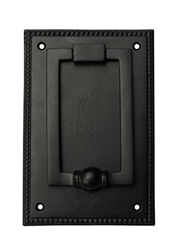 Adonai Hardware Jehoshaphat Brass Door Knocker (Black Powder Coated)
