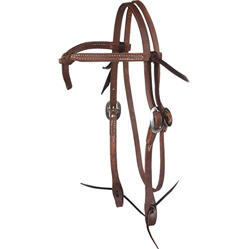 NRS Tack Ranch Hand Knotted Oiled Browband Headstall ()