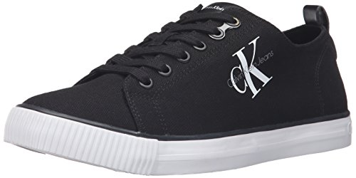 CK Jeans Men's Arnold Canvas Fashion Sneaker, Black, 8.5 M (Denim Canvas Footwear)