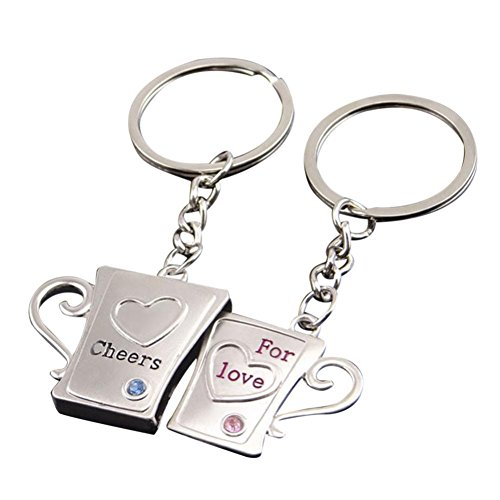 Likero Couple Creative Love Keychain Gift Key Ring (Creative Couples Costume)