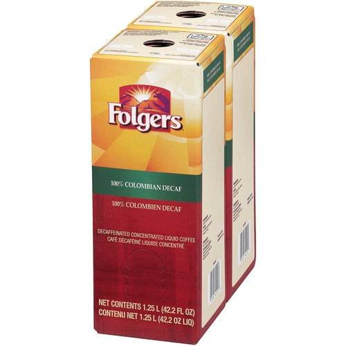 Folgers 100 Percent Colombian Decaffeinated Coffee Liquid, 1.25 Liter -- 2 per case. by Folgers