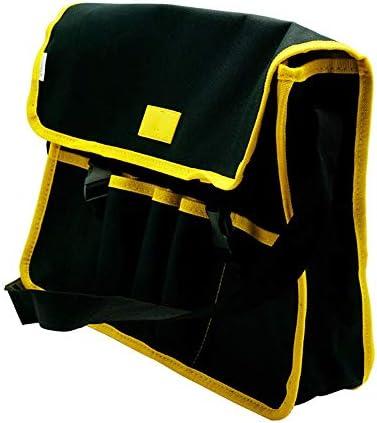 ツールバッグ 防水工具収納袋多機能テクニシャンバッグ 工具収納便利 (Color : Black, Size : One size)