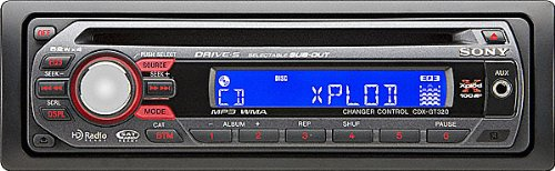 Brand NEW Sony Xplod Cdx-gt320 Amazing Car Audio Cd Receiver with 52x4 Watt Amp and Front Aux Input and Detachable Face + Satellite and Hd Radio Ready + Ipod Ready + Text Display and More **Free $20.00 Mp3/ipod Connector Cable**