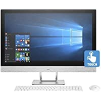 HP Pavilion 27 QHD Premium All-in-One Computer (Intel i7 Quad Core, 16GB RAM, 6TB HDD + 1TB SSD, 27 QHD IPS (2560x1440) Touch Display, HDMI, B&O Audio, Wireless Keyboard & Mouse, DVD, Win 10 Pro)