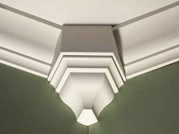 Amazon Com Crown Molding Corner 135 Degree Inside Block Fits 4 1 2 4 5 8 Inch Crown Molding Home Improvement
