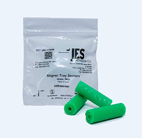 - Aligner Chewies for Invisalign Trays - Green/Mint Scented - 3 Chewies per Bag