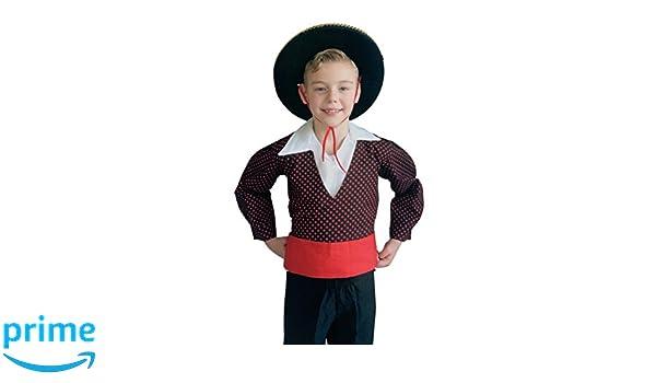 La Señorita Disfraz Chico para niño Chicos Traje Negro Rojo ...