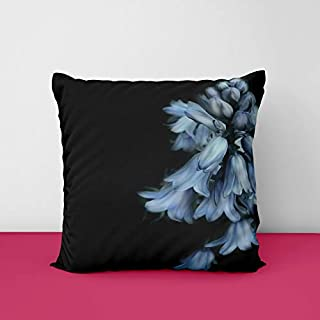 41wnX4LWntL. SS320 Bells Flower Black Square Design Printed Cushion Cover