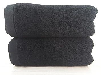 JUNHONGZHANG 3Pcs 100% Algodón Suave Hombres Negro Set De Toallas Hotel De Lujo Juego De Toallas De Baño Toalla Facial De Mano: Amazon.es: Hogar