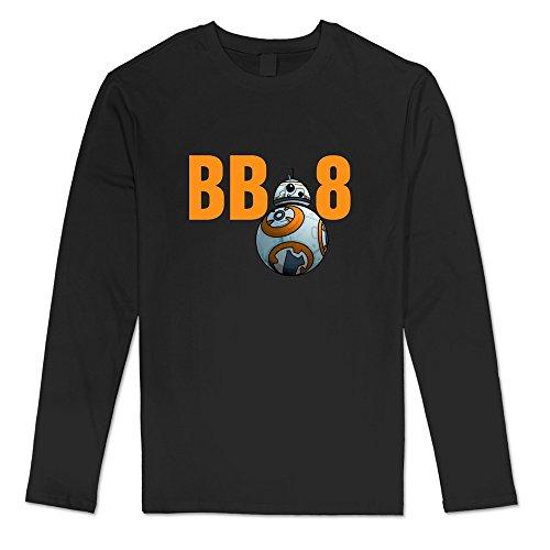 Price comparison product image NNKEY Men's Long Sleeve Stay Cute BB8 Robot T-shirt Black XXL