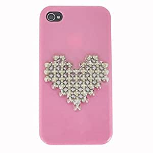 Heart Pattern Metal Rivet Back Cover for iPhone 4/4S