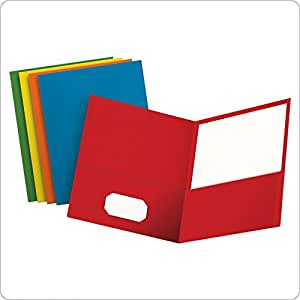 Oxford Twin Pocket Folders, Letter Size, Assorted Colors, 25 per Box (57513EE)
