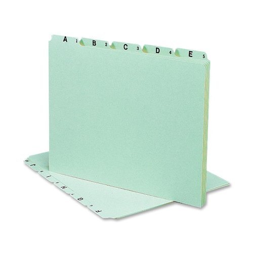 Smead® Alphabetic Top Tab Indexed File Guide Set GUIDE,PLAIN TAB,A-Z,LTR25 (Pack of5) by Smead