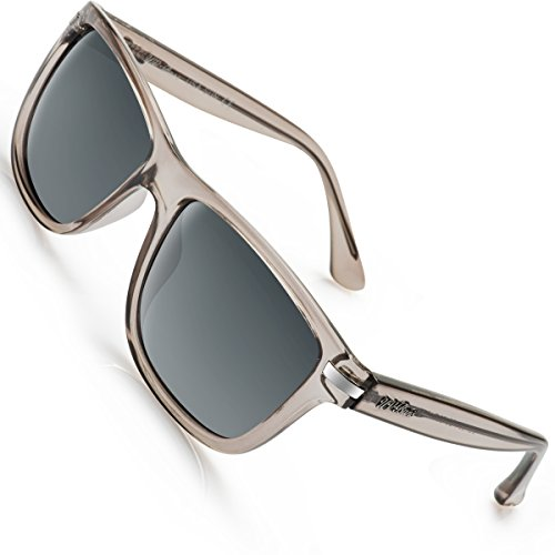 Protection Uv400 (UV-BANS Polarized Sunglasses for Men Women,Retro Wayfarer Style,TAC UV400 Protection (Grey wayfarer sugnlasses))