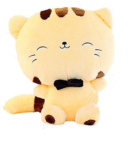 (Wemi Cute Kawaii Cat Plush Toys Anime Stuffed Animal Doll Cushion Toy Yellow)