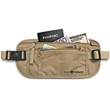 Money Belt - RFID Blocking Travel Wallet For Passport, Money, Credit Cards, Documents, and Phone - Black or Tan