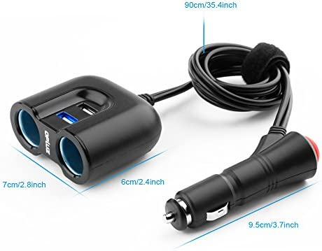 Car Charger With Switch 2 Socket Dc Outlet Built In Elektronik