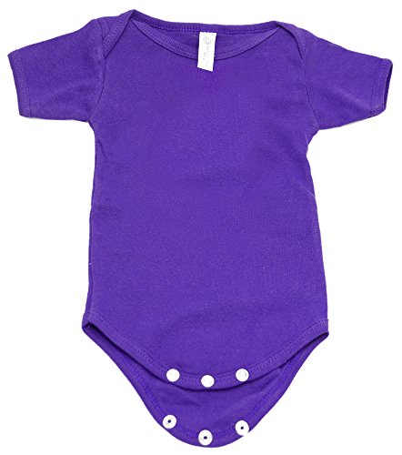 Mato & Hash Unisex Baby 100% Cotton One Piece Lap Shoulder Jumpsuit Purple Mountain 18-24M