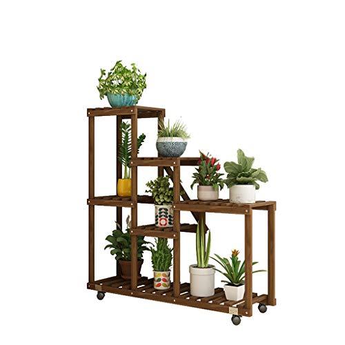 CXQ Simple Moderne En Bois Massif Stand De Fleurs Fleurs Fleurs D'intérieur Au Sol Coin Salon Salon Balcon Boutique De Fleurs Plante En Pot Multi-Couche Stand CXQ 8c6cd5