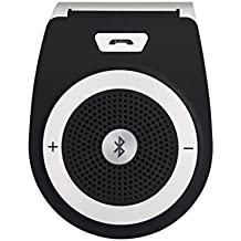 Wireless Portable Speaker for Cell Phone,Wireless Car Speaker Bluetooth,Stereo Player,Visor Audio Receiver Player,Bluetooth Car Kit For Mobile Phone Music Playing and Hands-free Calling.(Black)