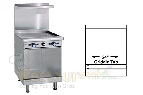Imperial Commercial Restaurant Range 24'' With 24'' Griddle 1 Cabinet Base Propane Model Ir-G24-Xb-P by Imperial