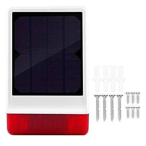 Siren Alarm - ecurity Siren, Wireless Outdoor Solar Powered Strobe Siren Alarm Waterproof Home Security System