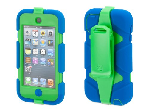 Griffin Blue/Green Survivor Case + Belt Clip for iPod Touch (5th/ 6th gen.) - Extreme-Duty case